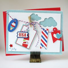 USA by Kathy Martin for #Doodlebug using Stars & Stripes