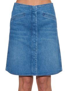 MiH Jeans The Bodiam A-line denim skirt