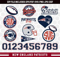 New England Patriots SVG, New England Patriots Files, Instant Download Football File, Cricut Cameo, Vinyl Machine, DXF EPS png jpg pdf - 013 by SportyFiles on Etsy https://www.etsy.com/listing/556576783/new-england-patriots-svg-new-england