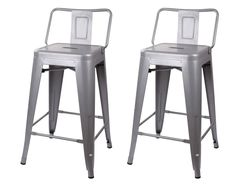 """GIA Low Back Metal Barstool 24"""" Counter Height"""