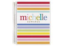 spiral notebook -taffy stripes #ToolsForSchool #ECNotebooks