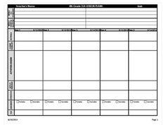 Third grade common core lesson plan template lesson plan for Dok lesson plan template