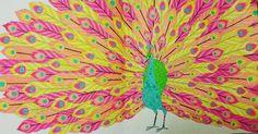 """Finally finished my peacock #3days #milliemarotta #tropicalwonderland"""