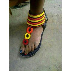Elegant maasai sandals on sale by Africanmaasaisandals on Etsy