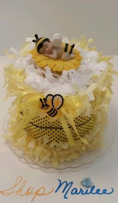 Bumble Bee Baby Mini Baby Shower Diaper Cake (Caucasian) in Baby | eBay