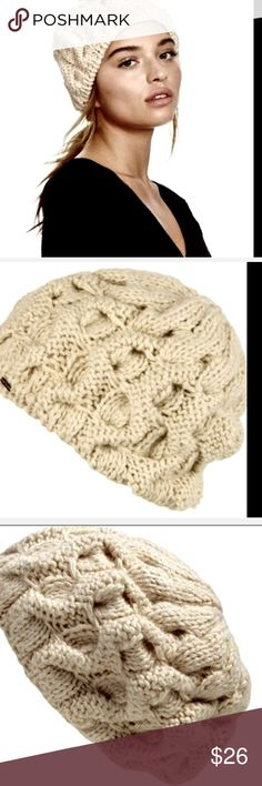 Free People Pretty Persuasions ivory cable beanie Free People / Pretty Persuasions ivory cable knit beret / beanie with copper FP logo New Without Tags  *  One Size  100% acrylic  Check out my other items! Be sure to add me to your favorites list! Free People Accessories Hats