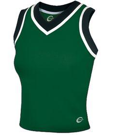 Chassé Stadium Tri-Color Stadium Cheerleading Uniform Shell Top
