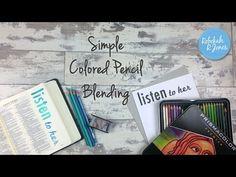 Simple Colored Pencil Blending - Bible Art Journaling Challenge Week 28 - YouTube
