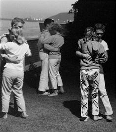 Dancing in the dark Teens going steady, 1950s Leonard McCombe