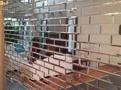 bevelled mirror tiles – Silver mirrored bevelled brick shape wall tiles – my furniture Mirror Panel Wall, Mirror Wall Tiles, Mirror Backsplash, Mirrored Furniture, Home Decor Furniture, Tiles Uk, Wall Decor Design, Mirrors For Sale, Beveled Mirror