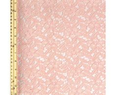 Blush Cotton Floral Lace Fabric-Celine