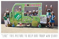 Please vote for Haven's troop in the Girl Scouts Bling Your Booth Challenge!