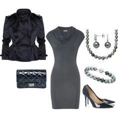 Love the grey & deep blue pairing