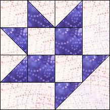 Block of Day for April 08, 2016 - Baby Basket- strip piecing-The pattern may be downloaded until: Saturday, April 30, 2016.