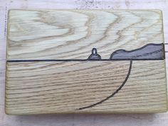 Oak seascape Godrevy Lighthouse, Cornwall available at my Etsy shop https://www.etsy.com/uk/listing/253413188/wooden-wall-art-oak-engraved-with-a