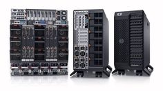 Dell dual socket tower servers and storages..