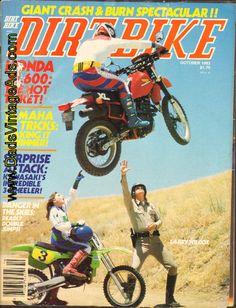 my honda 600 - 1983 October Dirt Bike Motorcycle Magazine Back-Issue Vintage Honda Motorcycles, Old School Motorcycles, Dirt Bike Magazine, Dirt Bike Parts, Custom Street Bikes, Vintage Motocross, Dirtbikes, Cool Bikes, Bmx