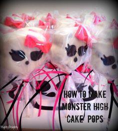 How to Make Monster High Cake Pops