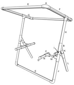 Use this diagram to build your moile produce stand.