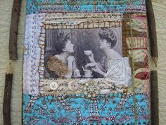 quilted book cover by calamity kim, via Flickr