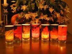 thanksgiving placecard votives - OCCASIONS AND HOLIDAYS