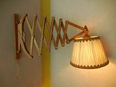 Mid Century Danish Sax Style Modern Wall Mount Lamp Sconce Wood Scissor Dutch  #MidCenturyModern