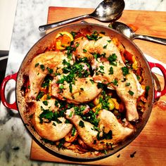 Bill Granger Baked Chicken with Potatoes, Lemon and Olives