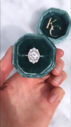 The vintage-inspired Emerson halo engagement ring features a Charles & Colvard Forever One Hearts & Round Halo Engagement Rings, Antique Engagement Rings, Art Deco Engagement Rings, Colored Engagement Rings, Vintage Inspired Engagement Rings, Antique Diamond Rings, Engagement Ring Styles, Zealand Tattoo, Ring Verlobung