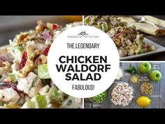 This classic CHICKEN WALDORF SALAD is all about the interesting combination of fruit, vegetable, nuts and chicken tossed in a tangy dressing. Best Salad Recipes, Easy Delicious Recipes, Healthy Recipes, Party Recipes, Greek Chicken Salad, Chicken Salad With Apples, Cold Pasta Dishes, Roast Chicken Recipes, Chowder Recipes