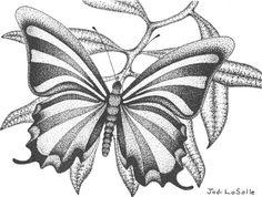 "Wildlife 'RIBBONS' #2 (Butterfly In Flight - Pointillism) ""8x10"" Ltd.Edition Print/Poster"