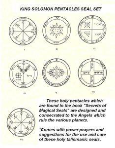 king solomon seals   All Categories ›› Seals & Talisman ›› King Solomon Pentacles ...