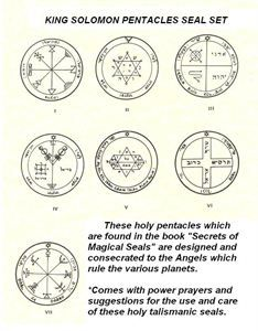 king solomon seals | All Categories ›› Seals & Talisman ›› King Solomon Pentacles ...