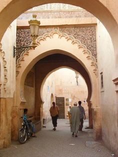 Keyhole arches in Marrakesh