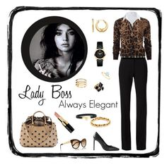 """""""Leopard Print Outfit Inspiration"""" by m2ri ❤ liked on Polyvore featuring Alexander Wang, Dolce&Gabbana, Fendi, Steffen Schraut, Tiffany & Co., Dorothy Perkins, Yves Saint Laurent, Marc by Marc Jacobs, Movado and Ileana Makri"""