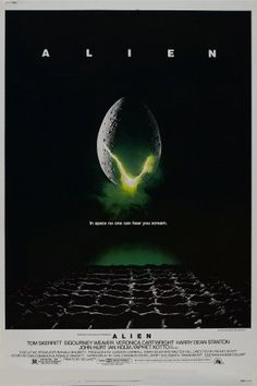 Alien movie poster designed by Philip Gips