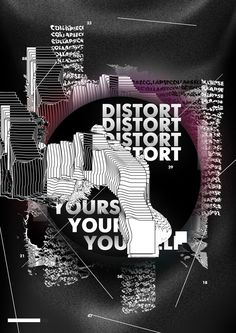 """""""distort_yourself"""" by nikita belousov / russia, 2018 / 210 x 297 mm Communication Design, Graphic Posters, Movie Posters, Typo, Russia, Art, Art Background, Film Poster, Kunst"""