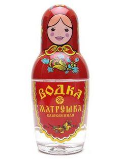 Russian Doll Vodka from Russia - #RussianDoll #RussianDollVodka