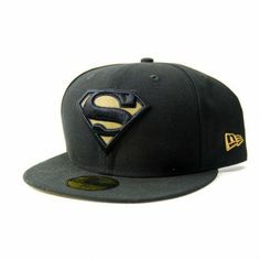 New Era Hero Reflect Superman Cap Black Gold