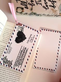 To All the Boys I've Loved Before Lara Jean Letter//Handmade: Bookmark by Boookmarky on Etsy https://www.etsy.com/uk/listing/248841263/to-all-the-boys-ive-loved-before-lara