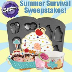 Win a Wilton Summer Survival Kit containing an assortment of summer-themed decorating products!