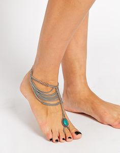 Image 1 -ASOS Mystical Stone & Chain Foot Harness