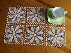 Crochet Mandala, Filet Crochet, Crochet Motif, Crochet Doilies, Crochet Patterns, Crochet Table Runner, Crochet Tablecloth, Thread Crochet, Crochet Stitches