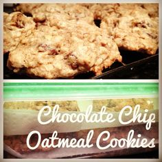 Chocolate Chip Oatmeal Cookies #baking #treat #noms #dessert
