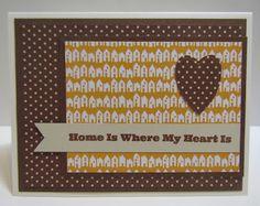 Handmade love card. Heart
