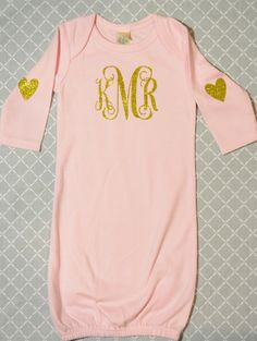Monogram Baby Gown