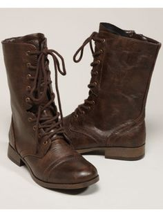 Cute combat boots | BP. Looks We Love | Pinterest | Lace, Lace up ...
