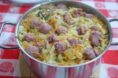 Disto e Daquilo: Arroz de Couve, Cenoura e Salsicha Fresca
