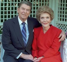 Former President RONALD AND NANCY REAGAN ⇨ Follow City Girl at link https://www.pinterest.com/citygirlpideas/ for great pins and recipes!  ☕