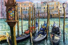 Buy Italy Venice Lamp, Watercolor by Yuriy Shevchuk on Artfinder. Discover thousands of other original paintings, prints, sculptures and photography from independent artists.