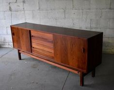 Mid Century Modern Rosewood Credenza by Nils Jonsson for Troeds for sale online Danish Modern, Mid-century Modern, Pink Desk, Mid Century Sideboard, Tree Artwork, Glass Top Coffee Table, Walnut Table, Modern Glass, Round Dining Table